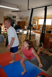 Renee and Mike with the lunge